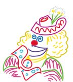 Colorful Clown face royalty free illustration