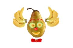 Clown face made of fruits and vegetables Royalty Free Stock Images