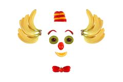 Clown face made of fruits and vegetables Royalty Free Stock Image
