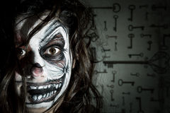 Clown face paiting Royalty Free Stock Photo