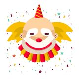 Clown face vector isolated icon Royalty Free Stock Photos
