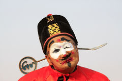 Clown face in yangko dance show, during the Chinese Spring Festi Stock Images