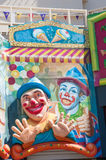 Clown faces atLuna Park, Melbourne Royalty Free Stock Images