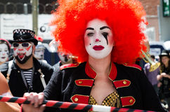 Clown Faces at How Weird Festival in San Francisco Royalty Free Stock Image