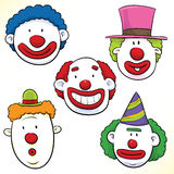 Clown Faces Royalty Free Stock Photos