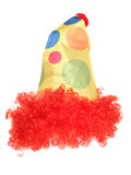 Clown fancy dress hat and wig Stock Image