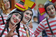 Clown fanfare royalty free stock images