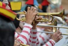 Clown fanfare trumpet Royalty Free Stock Photo