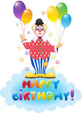Clown with festive balloons Stock Image