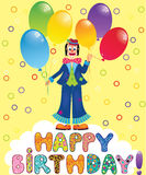 Clown with festive balloons Stock Images