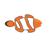 Clown fish coral anemone reef. Illustration eps 10 Royalty Free Stock Images