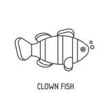 Clown Fish Icon Royalty Free Stock Photos