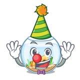 Clown fishbowl in a funny on cartoon. Vector illustration stock illustration