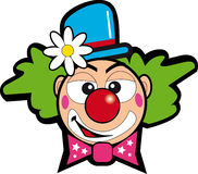 Clown with flower stock illustration