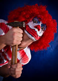 Clown fou Images libres de droits