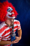 Clown fou Photos stock