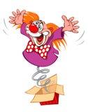Clown fou Images libres de droits