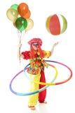 Clown fou et coordonné Photos stock