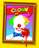 The clown frame Royalty Free Stock Images