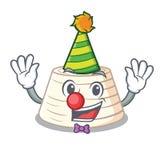 Clown fresh ricotta cheese on mascot cartoon. Vector illustration vector illustration