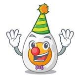 Clown freshly boiled egg isolated on mascot cartoon. Vector illustration royalty free illustration