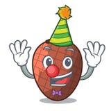 Clown fruits mauritia flexuosa isolateed on cartoon. Vector illustration stock illustration