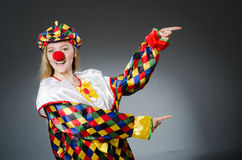 Clown in the funny concept Stock Photography