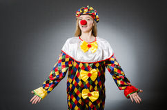 Clown in the funny concept Stock Photo