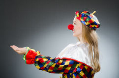 Clown in the funny concept Royalty Free Stock Photos
