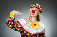 Clown in the funny concept Stock Images