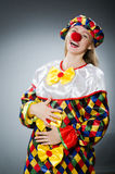 Clown in the funny concept Stock Image
