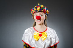 Clown in the funny concept Royalty Free Stock Photo