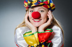 Clown in the funny concept Royalty Free Stock Images