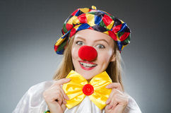 The clown in the funny concept Stock Image