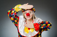 The clown in the funny concept Royalty Free Stock Images