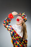 The clown in the funny concept Royalty Free Stock Image