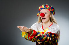 The clown in the funny concept Royalty Free Stock Photos