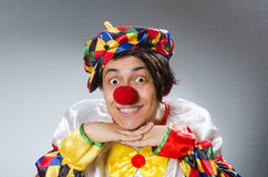 The clown in the funny concept Stock Photo
