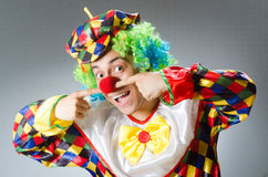 Clown in the funny concept Royalty Free Stock Image