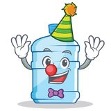 Clown gallon character cartoon style. Vector illustration Royalty Free Illustration
