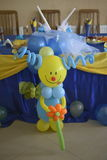 Clown gemacht von den baloons Lizenzfreies Stockfoto