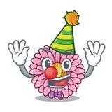 Clown gerbera flowers in the cartoon shape. Vector illustration vector illustration