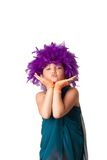 Clown girl stock photos
