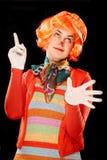 Clown girl. Stock Photo