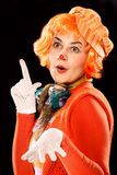 Clown girl. Royalty Free Stock Images