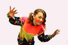 Clown girl royalty free stock photo