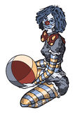 Clown Girl without background Royalty Free Stock Photo