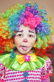 Clown girl royalty free stock photography