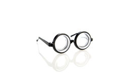 Clown glasses isolated on white stock photos