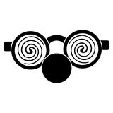 clown glasses and nose pictogram Royalty Free Stock Photography